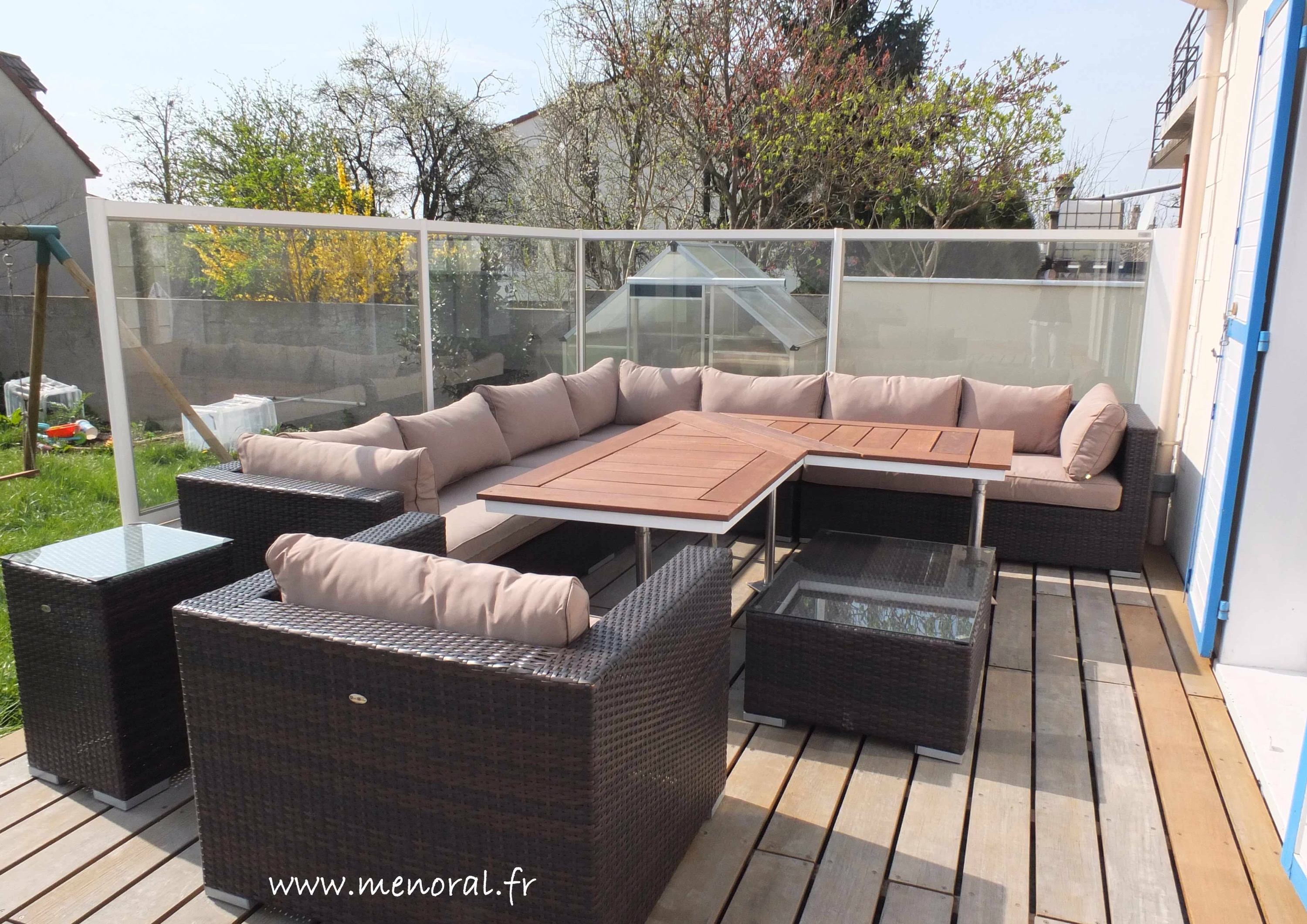 coupe vent en verre pour terrasse. Black Bedroom Furniture Sets. Home Design Ideas